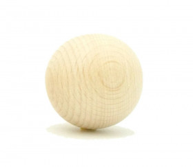 Boule en bois de 40 mm diamètre bille hêtre 4 cm