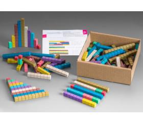100 réglettes bois 10 couleurs Montessori pour math