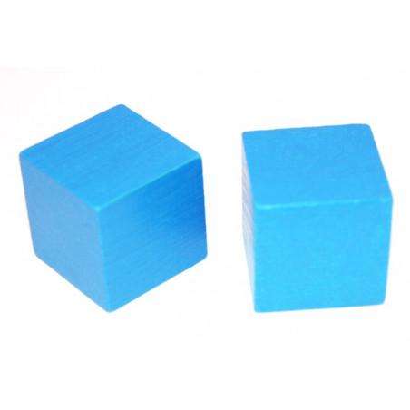 Cube en bois 3 cm couleur pour jeu 30 x 30 x 30 mm