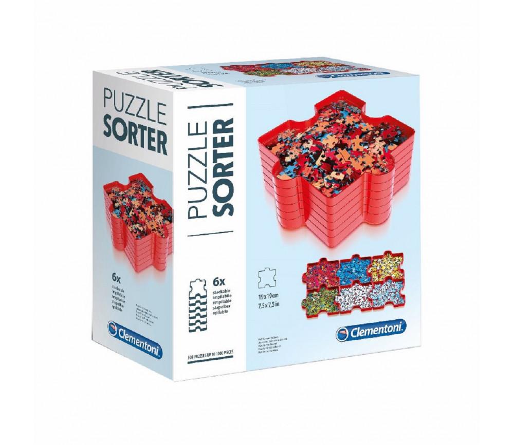6 Plateaux trieurs pièces puzzle CLEMENTONI