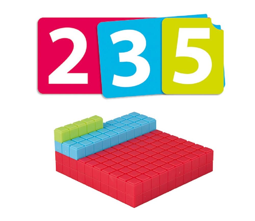Kit activités Base 10 - 125 pièces empilables + 45 cartes nombres