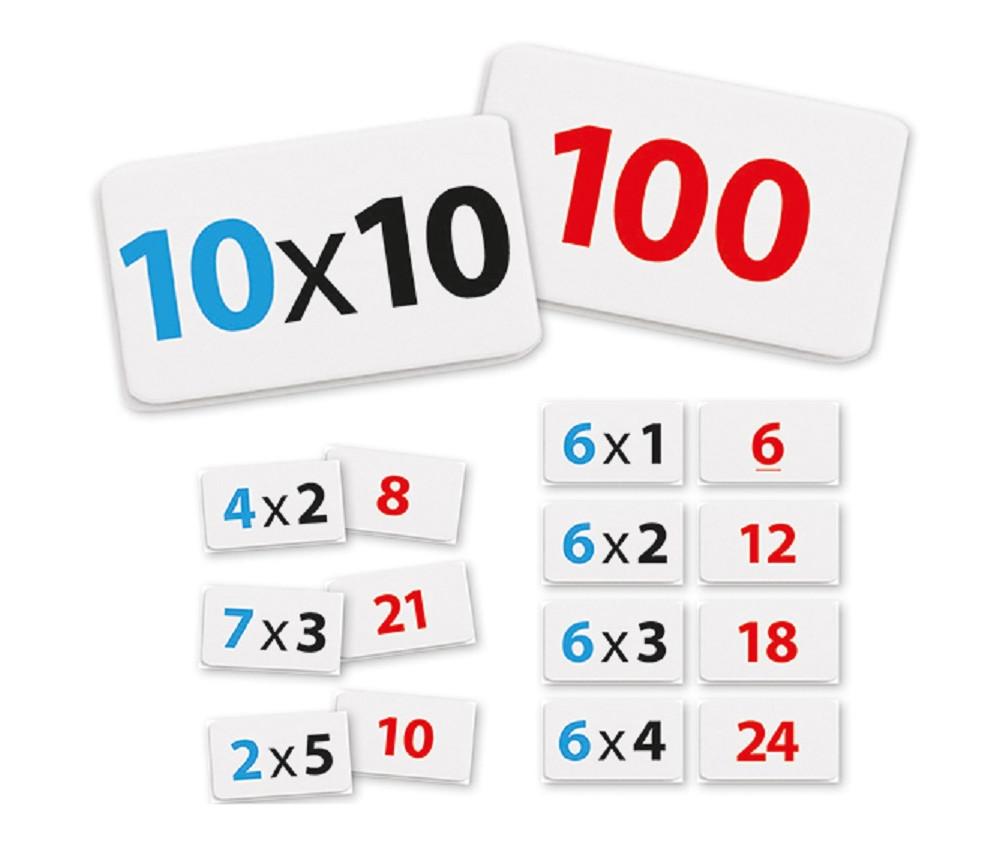 100 cartes multiplications - Apprendre les tables de multiplications