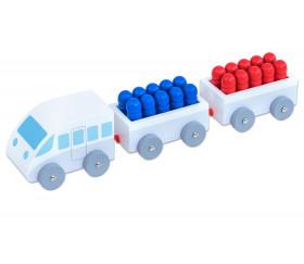 Petit Train en bois de calcul de 1 à 20