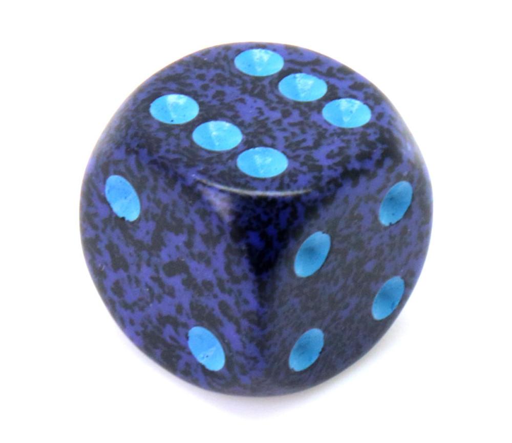 Dé à jouer 16 mm bleu effet granit Speckled - Cobalt - Chessex