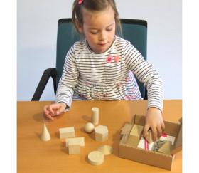 14 formes géométriques bois Rewood - cube base 3 cm