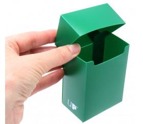 Deck box VERT Forêt- Boite cartes de jeux - plastique 9.5 x 7 x 4.5 cm