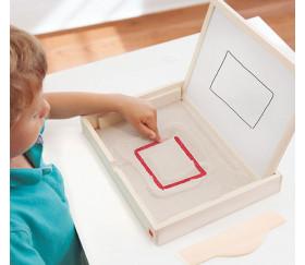 Set plateau sable et tableau multi-sensoriel apprentissage écriture