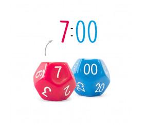 2 dés 12 faces Temps : 1 dé heure et 1 dé minute