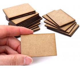 20 tuiles rectangles 6 x 4 cm en medium MDF pour jeux et bricolage
