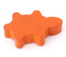 Tortue orange en bois 3.5 x 2.2 x 0.8 cm