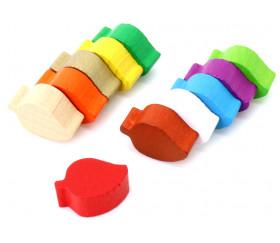 Pion mini Feuille en bois coloré vendue à l'unité