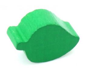 Pion mini Feuille verte en bois 2 cm