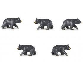Figurine mini ours noir