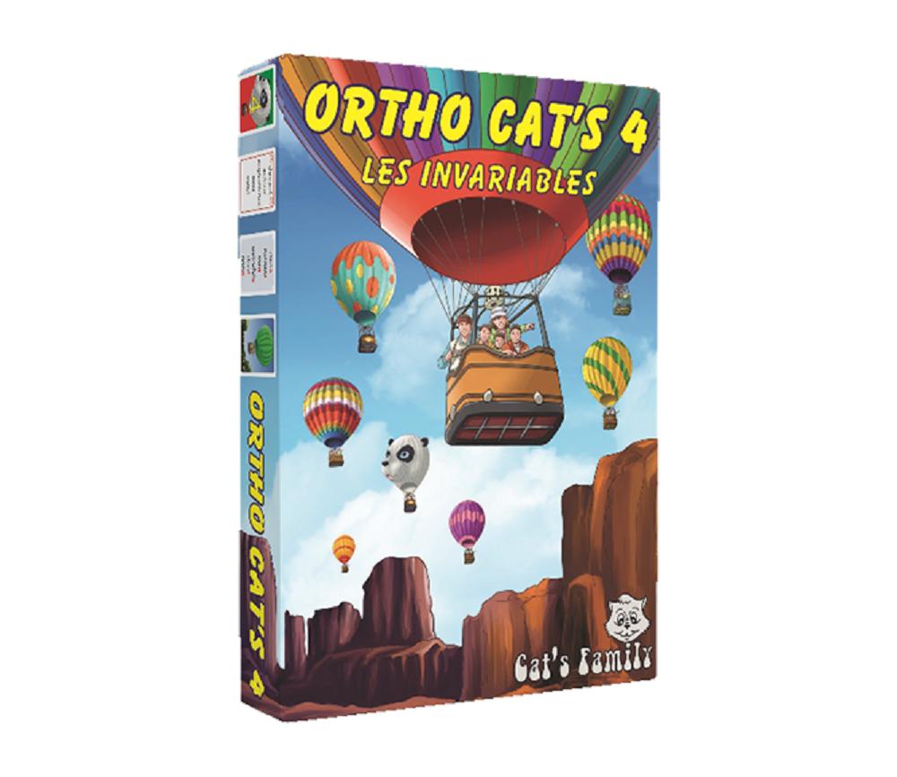 Jeu Ortho Cat's 4 Les invariables - orthographe CE1 au collège