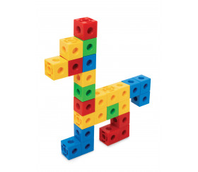 100 cubes pions multicolores encastrables 2 cm pour jeux