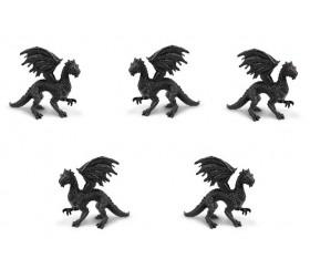 Figurine mini dragon noir twilight