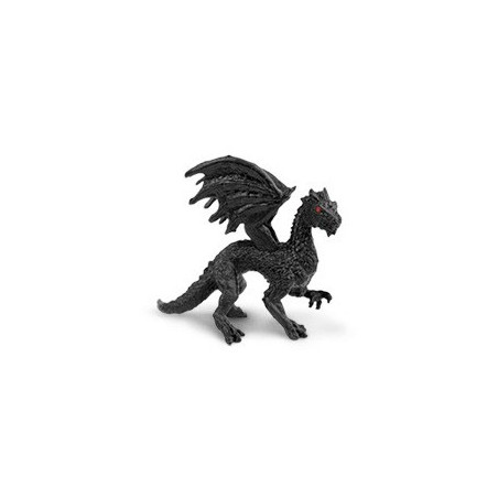 Figurine mini dragon noir twilight