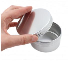Boîte ronde Ø 9.3 cm aluminium avec couvercle à vis
