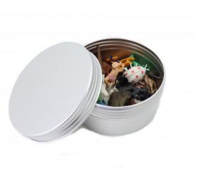 Boîte en aluminium avec couvercle à vis Ø 9.3 cm