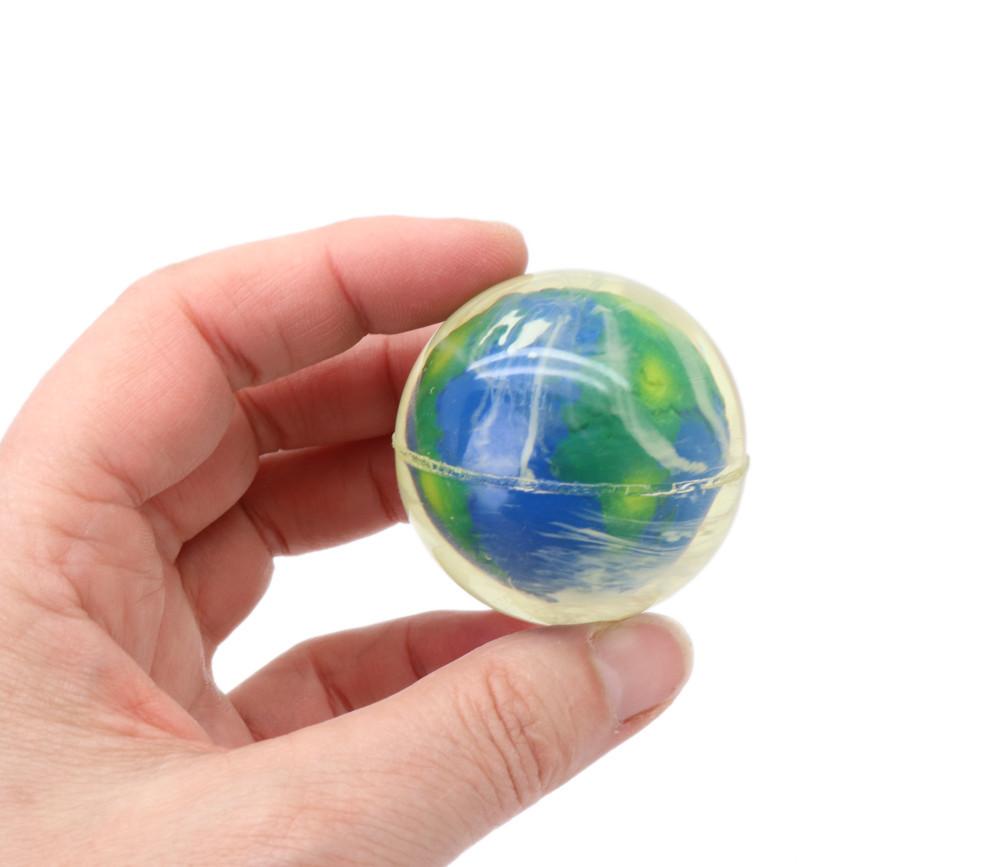 Balle rebondissante  4.7 cm : la terre vue du ciel