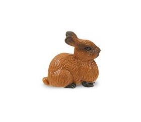 Figurine mini lapin marron