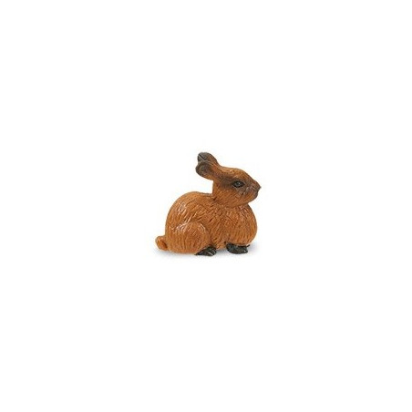 Figurine mini lapin marron