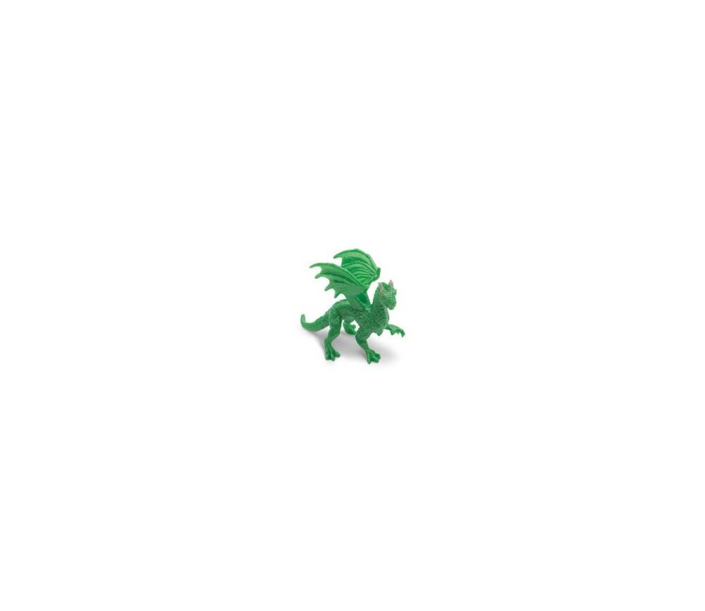 Figurine mini dragon vert forêt