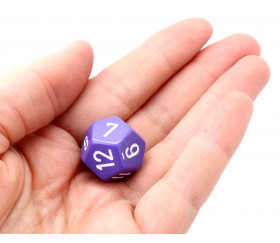 Dé 12 faces violet pour jeu opaque D12 standard
