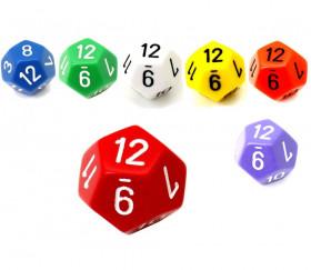 Dé 12 faces pour jeu opaque D12 standard différentes couleurs
