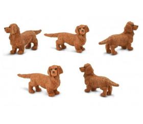 Figurine mini chien teckel