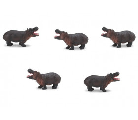 Figurine mini hippopotame