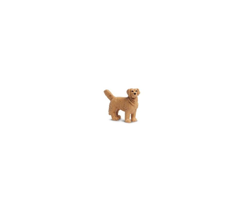 Figurine mini chien golden retriever