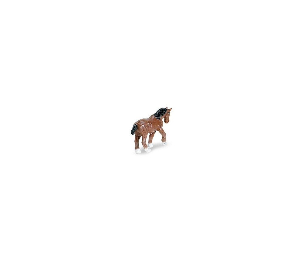 Mini figurine cheval marron