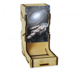 Tour lanceur de dés en bois 16.5 cm Spaceship
