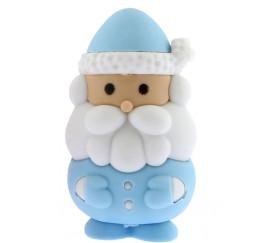 4 pions gommes Père-Noël / Lutin