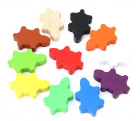 Pion Tortue en bois coloré 35 x 22 x 8 mm pour jeux