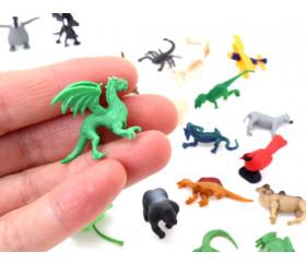 Figurine mini mini dragon vert forêt 28 x 15 x 25 mm