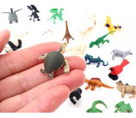 Mini mini Figurine tortue de mer verte 30 x 30 x 9 mm