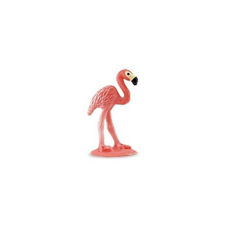 Figurine mini flamant rose