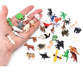 Figurine mini mini vache blanche style charolaise 15 x 10 x 28 mm