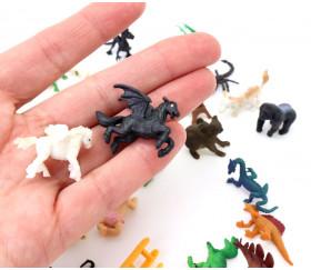 Figurine mini mini dragon noir twilight 20 x 20 x 30 mm
