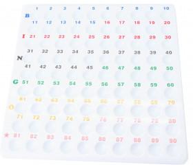 Plateau 1 à 90 contrôle tirage loto Grand modèle pour boules 22 mm (sans boules)