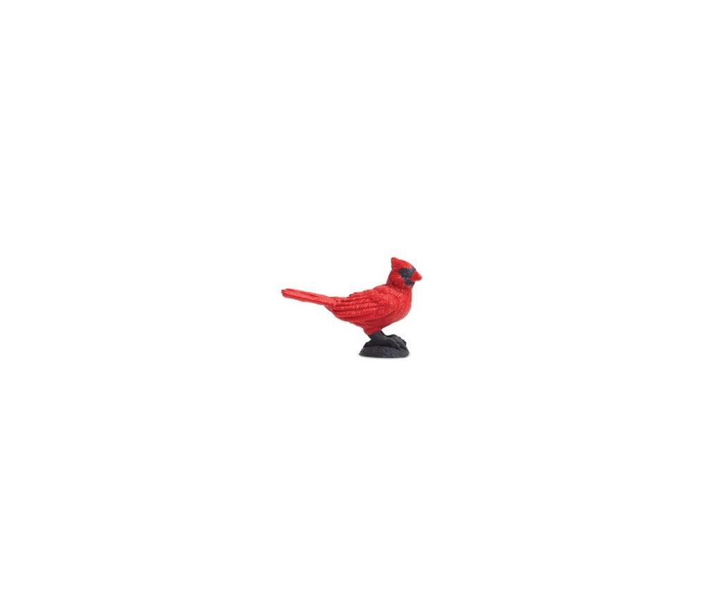 Figurine mini oiseau cardinal rouge