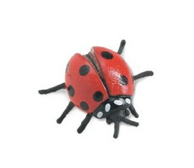 Figurine mini coccinelle rouge
