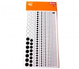 585 Ronds et points noirs pour personnalisation à déclaquer