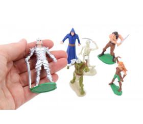 6 figurines Héros et Monstres
