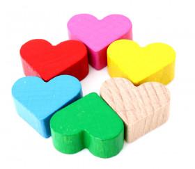 Coeur en bois pion de 2 x 1.7 cm achat à l'unité
