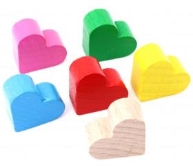 Mini Coeur en bois pion de 2 x 1.7 cm déco possible