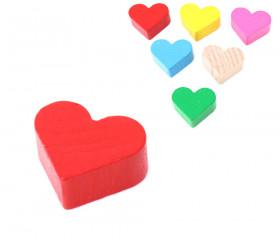 Coeur rouge jeton en bois pion de 2 x 1.7 cm jeux