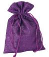 Sac effet scintillant violet 15,5 x 22,5 cm
